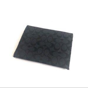 🔥Coach black signature logo id wallet